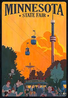 The Minnesota State Fair's official commemorative art for 2011, by Steve Thomas of Lino Lakes.