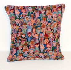 PILLOW COVERS TWO 20X20 CHILDREN AROUND THE WORLD