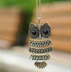 Big Eyes Owl Necklace Pendant Necklace 7c0f54523585e