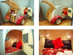 Cool vintage / retro micro-caravan by vwcampervanblog, via Flickr