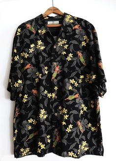 2275a041 Tommy Bahama Mens Size Large Hula Girl Hawaiian Shirt 100% Silk Luau Tiki  Party | eBay