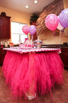 Not MY style, but I know a couple of my girls would LOVE this for their little girls.better out this on the grand babies page.-sf Decorated kitchen island at a Fashion Dance party Festa Party, Diy Party, Party Ideas, Event Ideas, Gift Ideas, Birthday Fun, 1st Birthday Parties, Horse Birthday, Birthday Ideas