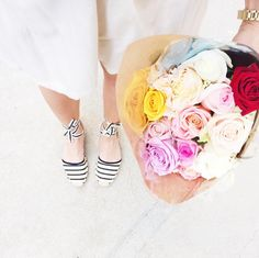 espadrilles + garden roses