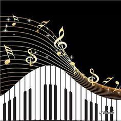Quadro Piano Impressão Digital 30x30 cm Uniart