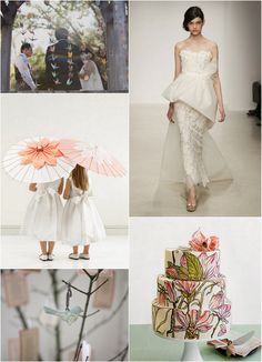 Love the idea of my flower girl holding an umbrella while she walks down the ailse....