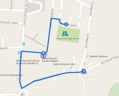 mappa realizzata con google maps