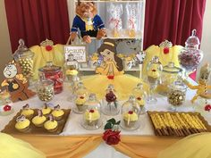 Discount Beauty and the Beast Princess theme party supplies to help you create the perfect birthday celebration. Rose trimmed yellow Tutus, Tiaras, Wands, Crafts, Games and so many more ideas are what you will find at My Princess Party to Go. Beauty And Beast Birthday, Beauty And The Beast Theme, Disney Beauty And The Beast, Beauty Beast, Princess Theme Party, Disney Princess Birthday, Birthday Party Decorations, Party Favors, Birthday Parties