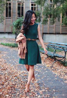 Shades of Autumn: jade green   warm camel