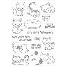 Clearly Besotted YOU'RE PURRFECT Clear Stamp Set  Preview Image
