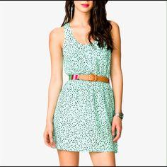 Dress triangle racer back summer dress.Elastic waist band mint/black Forever 21 Dresses