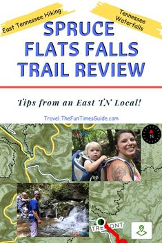 The hike to Spruce Flats Falls in East TN is 1.5 miles round trip. With time spent at the swimming hole and waterfalls, it takes about 2 hrs. These are my best tips before you go! #easttennessee #tennesseetravel #hiking #hikingwithkids #familytravel