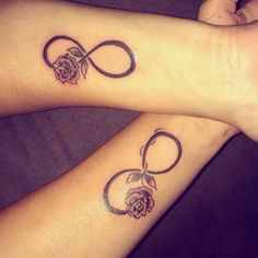 Matching Rose Infinity Tattoos | Venice Tattoo Art Designs