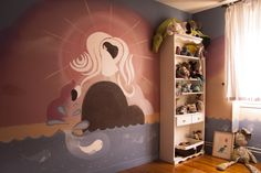 The Tomm Moore's 'Song of the Sea' inspired bedroom I made for my son, by his request. The bedroom of the Sea The Secret Of Kells, Playroom Mural, Song Of The Sea, Fantasy World, My Dream Home, Painting Inspiration, Kids Room, Room Ideas, Fan Art