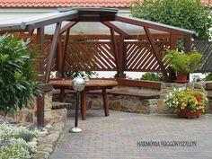 fa Outdoor Living Areas, Gazebo, Sweet Home, Outdoor Structures, House Design, Landscape, Garden Ideas, Pallets, Life