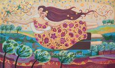 Risultati immagini per Sonia Koch Fairy Paintings, Louise Hay, World Of Color, Vincent Van Gogh, Indian Art, Pattern Art, Art World, Mother Earth, Figurative Art
