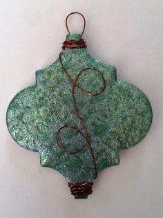 Gel Press Holiday Ornament 2