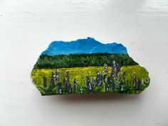 Rock painting, Stone painting, Landscape painting, English countryside…
