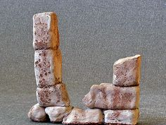 """""""Old stones"""", earthenware clay."""