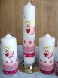 Taufkerze für Mädchen - sehr süß!