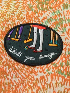 Old School Music Hip Hop Badge Iron or Sew on Embroidered Patch UK Seller