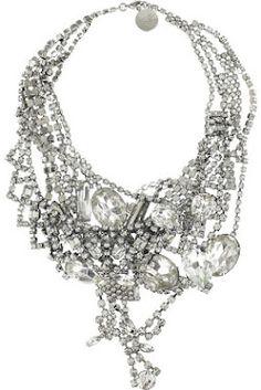 ZsaZsa Bellagio:  Crystal Statement Necklace <3