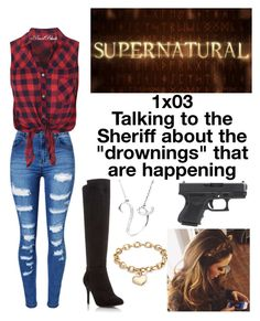 🙈Ronnie🙈 Dead in the water (Supernatural) Greaser Outfit, Badass Outfit, Summer Fashion Outfits, New Outfits, Cool Outfits, Movie Inspired Outfits, Themed Outfits, Supernatural Inspired Outfits, Black Dress Accessories