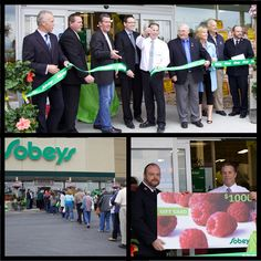 Local dignitaries and residents of Fenelon Falls gathered in the Sobeys parking lot on Thursday June 13, 2013 for the Grand Opening and Ribbon-Cutting of the recently expanded and renovated grocery store. #Grocery #FenelonFalls #GrandOpening #FoodSupply #Shopping #FenelonFallsBusiness
