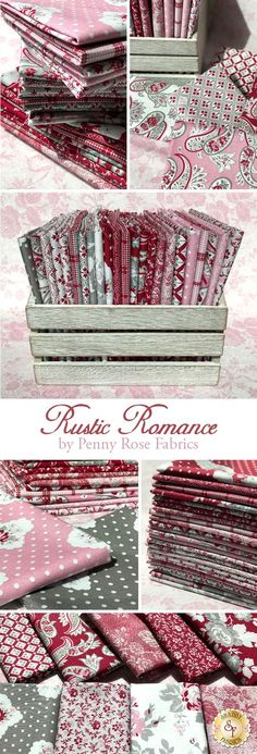 Rustic Romance is a charming floral collection by Gerri Robinson for Penny Rose Fabrics.