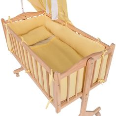 Wood Baby Cradle Rocking Crib Newborn Bassinet Bed Sleeper Portable Nursery - Baby & Toddler Furniture - Furniture