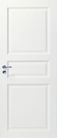 Дверь белая массивная 3-х филенчатая глухая: Массивные трехфиленчатые двери: Белые массивные двери CRAFT: Финские межкомнатные двери: АТОЛЛ:: Межкомнатные двери, напольные покрытия, дверные замки, доводчики, ламинированные полы (ламинат PERGO) в Петербурге