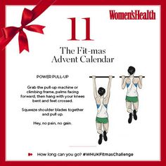 We're nearly halfway through, so we think you can handle this. Yes, today's #WHUKFitmasChallenge is the ultimate test of strength - a pull-up.