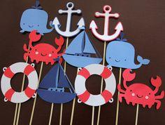 12 Nautical Table Decor Sticks Centerpiece Sticks by LanvisB, $15.00