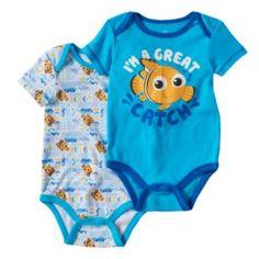 Disney+/+Pixar+Finding+Nemo+Baby+Boy+2-pk.+Bodysuits