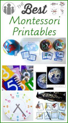 The Best Montessori Printables