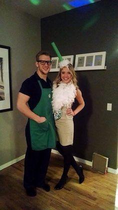 Starbucks lovers. Best couples costume. #starbuckslovers #couplescostume #halloween