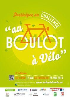 """L'IUT de Mulhouse participe à la 5ème édition du challenge alsacien """"Au boulot à vélo"""" qui aura lieu du lundi 12 au dimanche 25 mai 2014. Tous en selle !"""