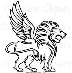 Image result for cartoon lion profile