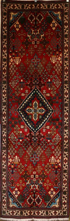 Persian Hand-Knotted Maymeh Rug in Wool (Cotton Foundation) - Ref: 926 - 3.00m x 1.09m