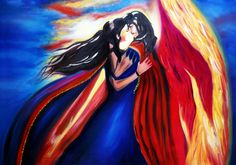 Angelic love From the series ''All about love'' (Oil on canvas) (70cmx50cm)