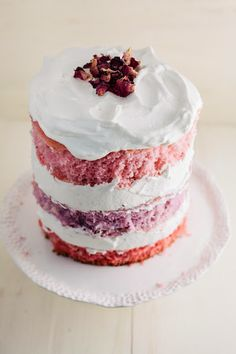 Rose Ombre Cake (for Valentine's Day!)