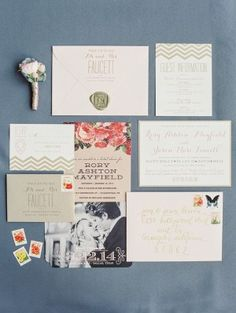 spring wedding stationery - photo by Taylor Lord