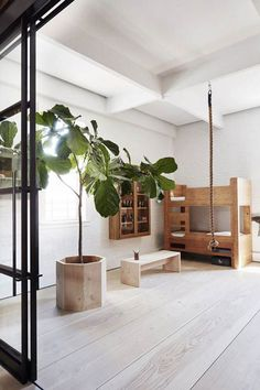 Modern Ideas for Kids Room Design: Decorating with Wood http://petitandsmall.com/modern-ideas-kids-room-decorating-wood/