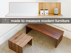 Made to Measure Modern Furniture by mmmodern — Kickstarter.  An innovative shelving system and a minimalist table. Beautiful furniture, hand-made just the way you like.