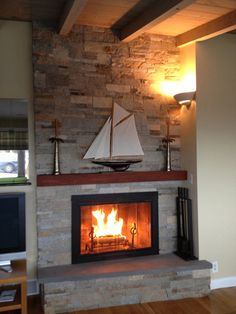 Fireplace Refacing On Pinterest Fireplaces Brick Fireplaces And Gas Fireplace Inserts
