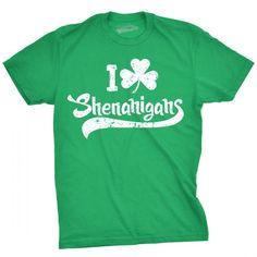 Mens Lucky Bitch Shamrock Clover Shenanigan Irish Beer St Patrick/'s Day T-Shirt
