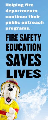Sparky's Wish List - donate educational supplies to your local Fire Department for Fire Prevention Week.
