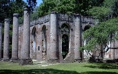Old Sheldon Church in Yemassee South Carolina, Burned by the British during the Revolution, rebuilt then burned by Sherman during the Civil War.