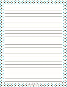 Blue and Brown Polka Dot Stationery