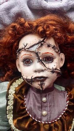 """Large 26"""" stitched up repainted ooak horror doll Prop in Dolls & Bears, Dolls, Clothing & Accessories, Artist & Handmade Dolls   eBay"""