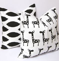 Wouldn't these be cute as curtains? Decorative Pillow Covers Throw Pillow Covers by FestiveHomeDecor